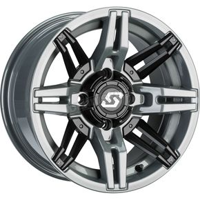 Gray/Black Front/Rear Rukus Limited Edition 14x7 Wheel - 570-1724
