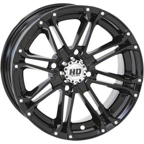 Solid Gloss Black Rear HD3 Wheel - 12HD310