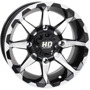 Machined Gloss Black Front HD6 Wheel  - 14HD603