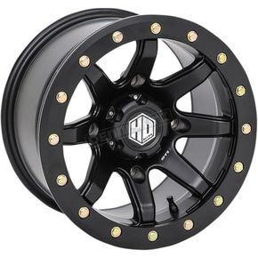 Solid Matte Black Front Comp Lock HD9 Wheel - 14HB929