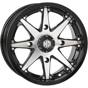 Machined Gloss Black Front/Rear HD10 Wheel - 20HD1007