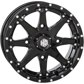 Solid Gloss Black Front HD10 Wheel - 14HD1023