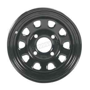 12x7 Black Delta Steel Wheel  - 1222565014