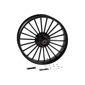 Black Front 21 in. x 3.5 in. One-Piece Illusion Forged Aluminum Wheel w/ABS - 0321350-126B1