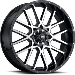 Gloss Black Hurricane Wheel w/Milled edges  - 1822515546B