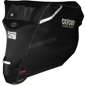 Black Protex Stretch Premium Outdoor Motorcycle Cover