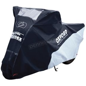 Black/Silver Rainex Deluxe Rain & Dust Motorcycle Cover