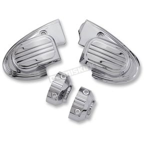 Ciro Chrome Master Cylinder Cover for Handlebar Mounted Mirrors - 70304