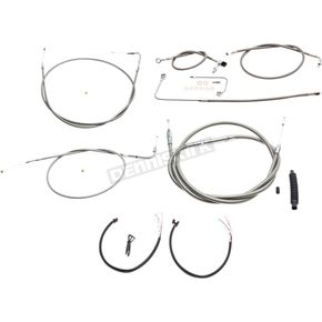 LA Choppers Braided Stainless Cable/Brake Line Kit w/ABS For Use w/OEM Handlebars - LA-8151KT2A-00