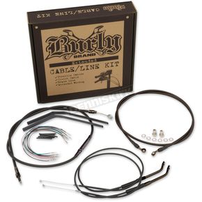 Burly Brand 12 in. T-Bar Cable Kit (non-ABS) - B30-1147