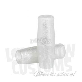 Lowbrow Customs Metalflake Silver Classic Grips - 004101