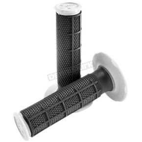 Pro Taper Black Synergy Dual Density Compound Half Waffle Grips - 02-4849