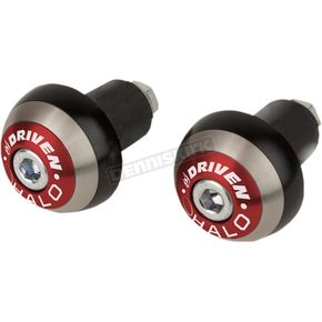 Driven Racing Red Halo Bar Ends - DHBEW-RD
