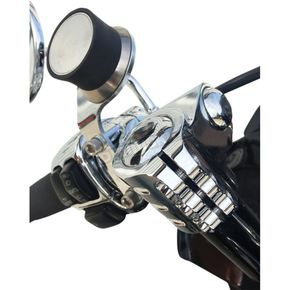 Klock Werks Chrome iO Device Mount (Perch Mount w/Stock Controls) - 0636-0047