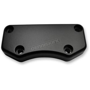 Drag Specialties Flat Black Smooth Buffalo Handlebar Clamp - 0602-0808