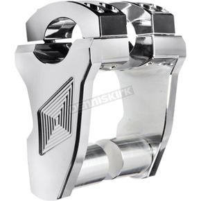 ROX Speed FX Chrome 3 in. Patriot Series Pivoting Riser - 4R-P3RX-02