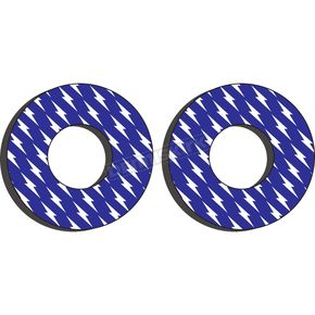 White/Blue Moto Grip Donuts - 22-67200