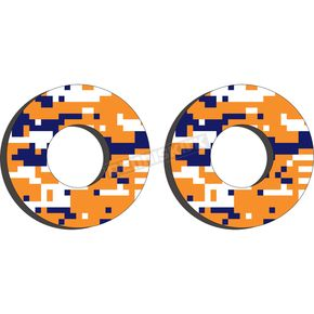 Blue/Orange Moto Grip Donuts - 22-67500