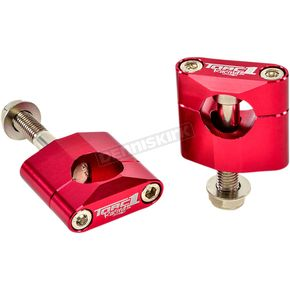 Red Oversized Handlebar Mounts - 1900-0400