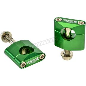 Green Oversized Handlebar Mounts - 1900-0800