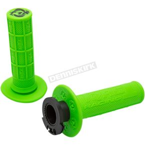 Green/Black Defy MX Lock On Grips for 4 Strokes - 3750-0802
