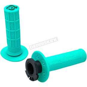 Mint/Black Defy MX Lock On Grips for 4 Strokes - 3750-0812