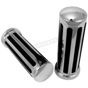 Chrome Rail Handlebar Grips - 42017
