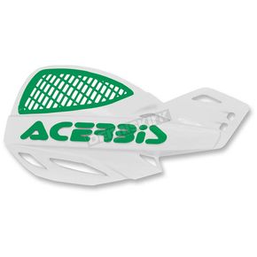 Acerbis White/Green Vented Uniko Handguards - 2072671050