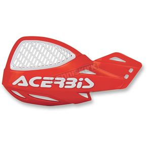 Acerbis Red/White Logo Vented Uniko Handguards - 2072671005