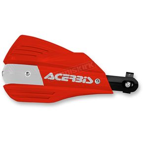 Acerbis Red/White X-Factor Handguards - 2374191005