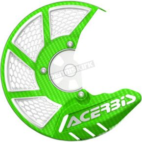 Acerbis Green/White X-Brake 2.0 Vented Front Disc Cover - 2449490006