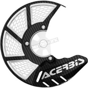 Acerbis Black/White X-Brake 2.0 Vented Front Disc Cover - 2449490001
