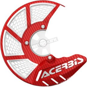 Acerbis Red/White X-Brake 2.0 Vented Front Disc Cover - 2449490004