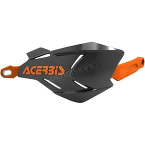 Acerbis Black/Orange X-Factory Handguards - 2634661009