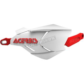 Acerbis White/Red X-Factory Handguards - 2634661030