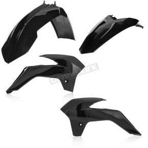 Acerbis Black Standard Replacement Plastic Kit - 2314320001