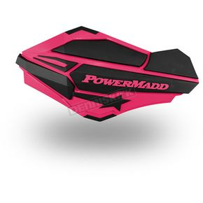 PowerMadd Cobra Pink/Black Sentinel Handguards - 34424