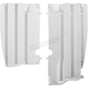 Polisport White Radiator Louvers - 8456200001