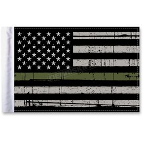 Grunge USA 9x6 Military Green Line Motorcycle Flag - FLG-GMGL-US