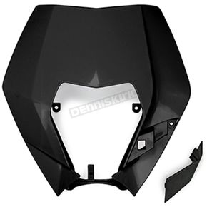 Black Headlight Plastic - KT04090001