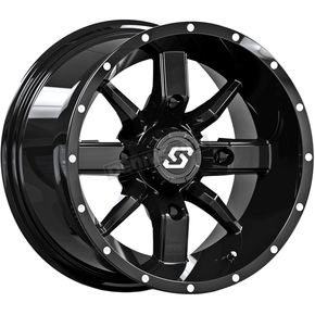 Black Front/Rear Hollow Point 14x8 Wheel - 570-1331