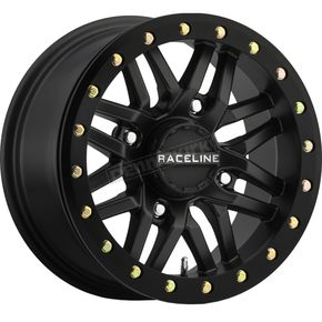 Black Front/Rear Ryno Beadlock Raceline 15x7 Wheel - 570-1605