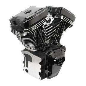 S&S Cycle T111 Long Block Black Engine - 310-0830