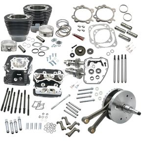 S&S Cycle Black Powder-Coat 124 Hot Set Up Kit - 900-0569