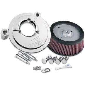Arlen Ness Black Big Sucker Stage 1 Performance Air Cleaner Kit w/Synthetic Filter - 50-319
