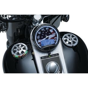 Kuryakyn Chrome Alley Cat LED Fuel and Battery Gauge - 7381