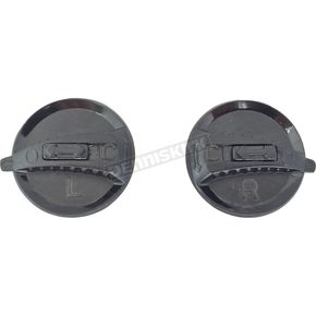 Black Tab Shield Pivot Knobs for OF569 Helmet - 02-029