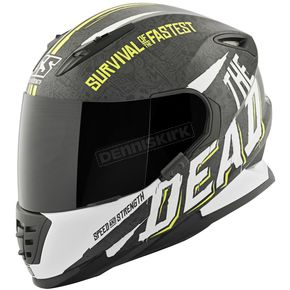 Speed and Strength Hi-Viz/White/Black Quick and the Dead SS1310 Helmet - 874827
