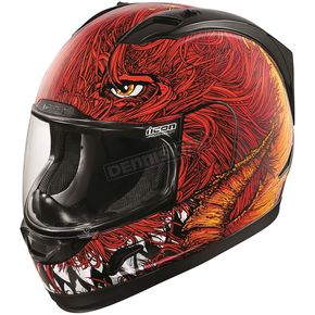 Icon Black/Red Alliance Lucifer Helmet - 0101-9909