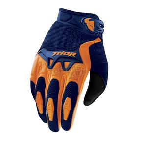Thor Navy/Orange Spectrum Gloves - 3330-3405